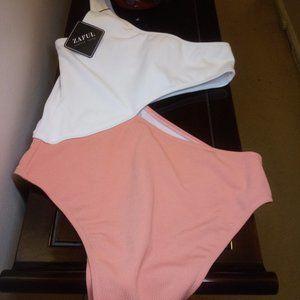 🇺🇸 3/$30 Zaful Cutout One Shoulder Swimsuit L-8